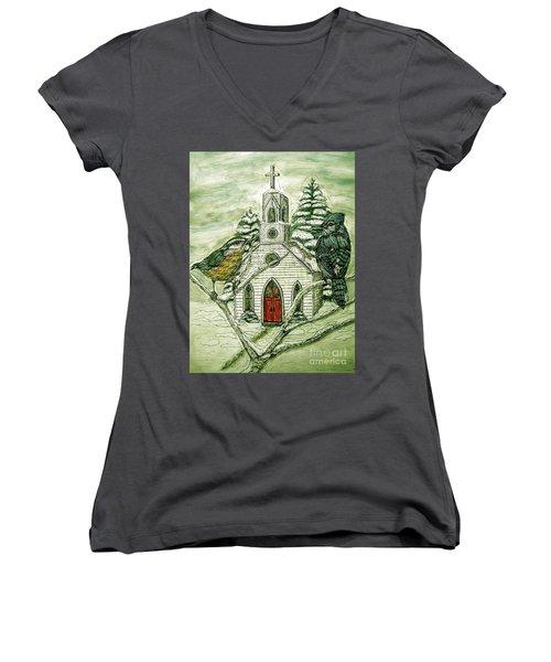 Snowbirds Visit St. Paul Women's V-Neck T-Shirt