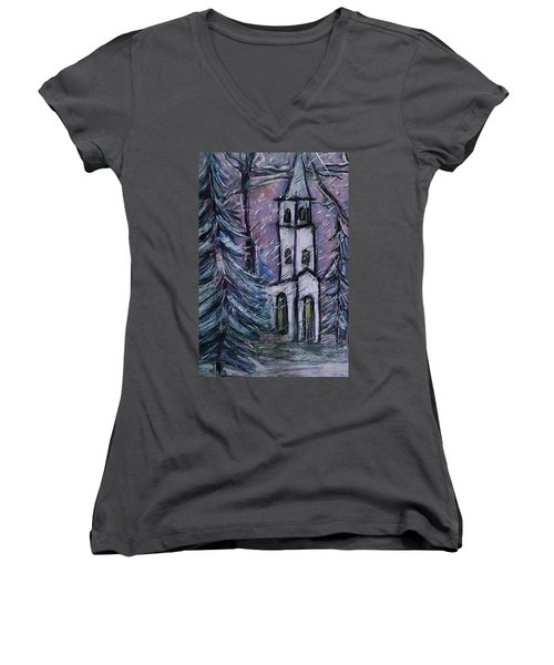 Snowscape Women's V-Neck