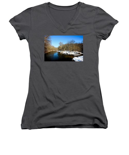 Snowy Creek Morning Women's V-Neck