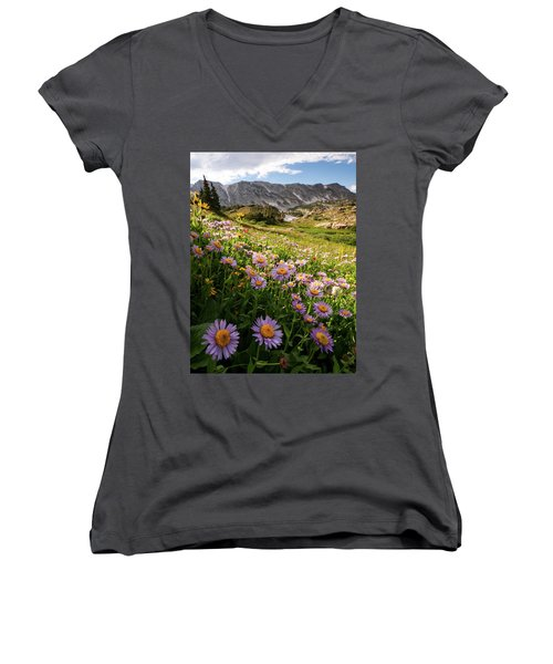 Snowy Range Flowers Women's V-Neck
