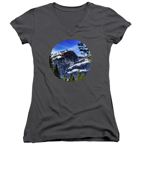 Snowy Sentinel Women's V-Neck T-Shirt