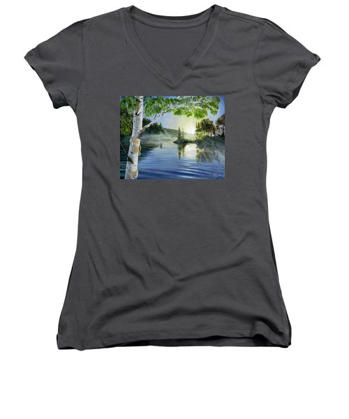 Ripples Women's V-Neck
