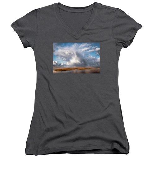 Soaring Clouds Women's V-Neck