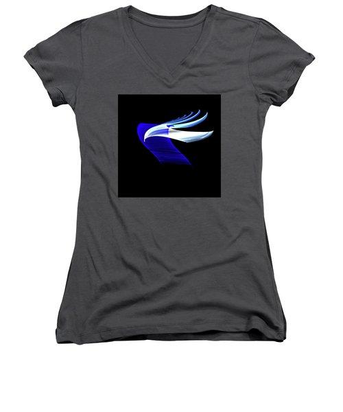 Women's V-Neck T-Shirt (Junior Cut) featuring the digital art Soaring by Lea Wiggins