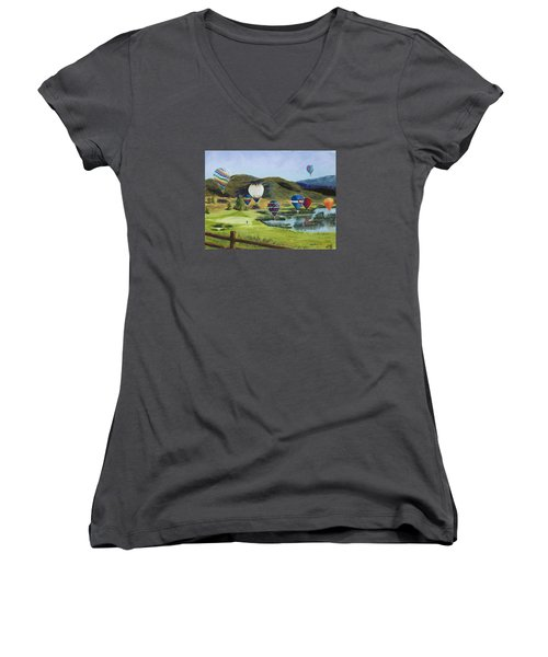 Soaring Over Colorado Women's V-Neck T-Shirt