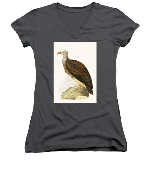 Sociable Vulture Women's V-Neck T-Shirt (Junior Cut)