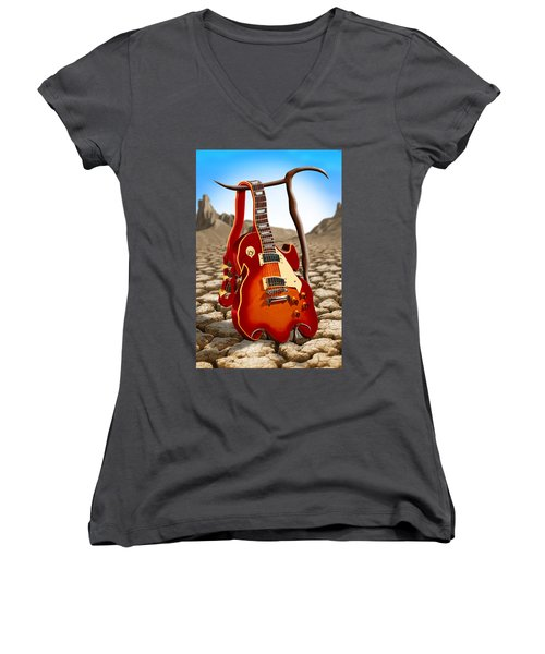Soft Guitar Women's V-Neck (Athletic Fit)