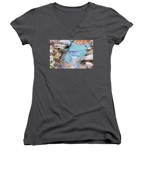 Softly Falling Women's V-Neck T-Shirt