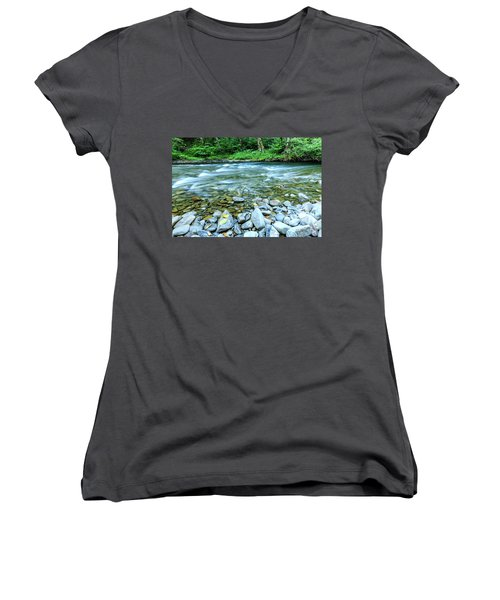 Sol Duc River In Summer Women's V-Neck