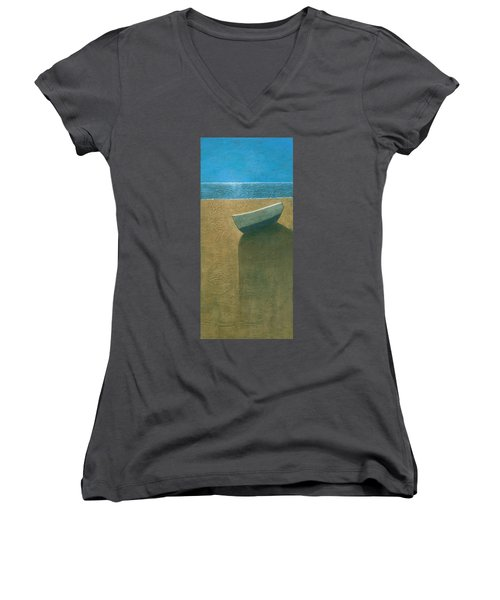 Solitary Boat Women's V-Neck (Athletic Fit)