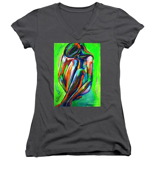 Solitary Figure Women's V-Neck