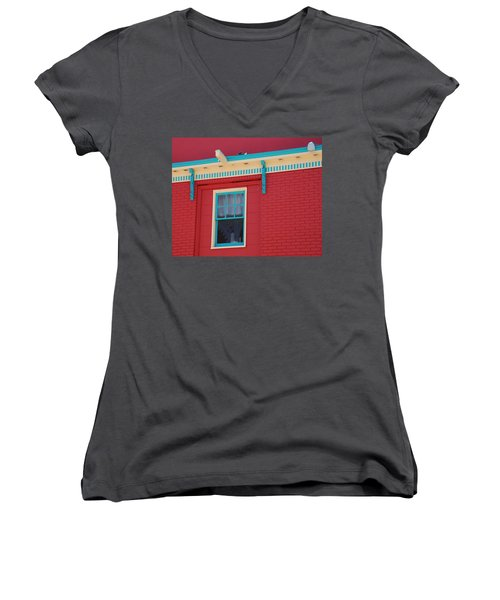 Women's V-Neck T-Shirt (Junior Cut) featuring the photograph Solitary Window by Richard Bryce and Family