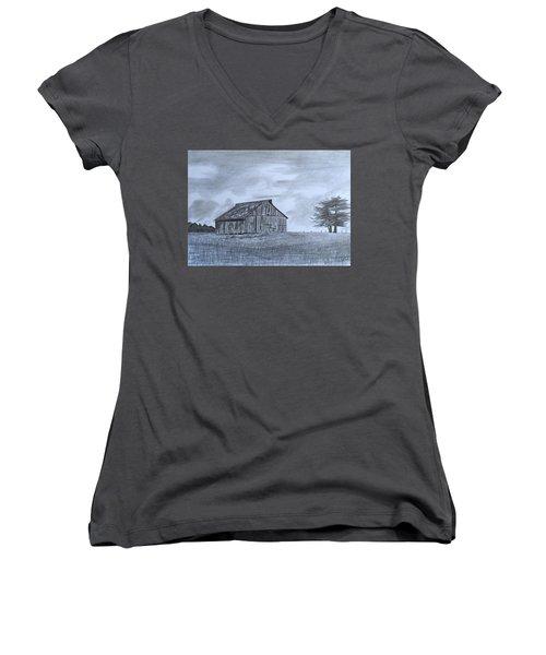Solitude  Women's V-Neck T-Shirt (Junior Cut) by Tony Clark