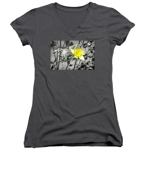 Solo  Women's V-Neck T-Shirt (Junior Cut) by Clarice Lakota