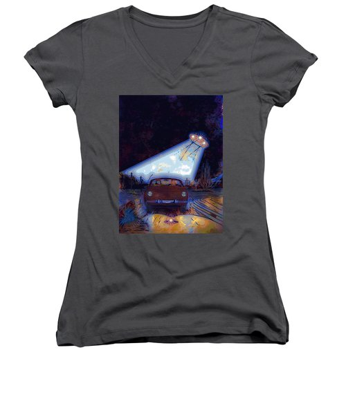 Some Enchanted Evening-retro Romance Women's V-Neck (Athletic Fit)