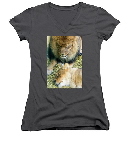 Someone To Watch Over Me Women's V-Neck (Athletic Fit)