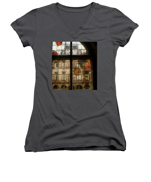Women's V-Neck T-Shirt (Junior Cut) featuring the photograph Something In The Air by Paul Lovering