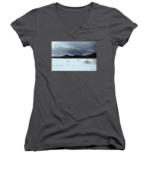 Something Wicked This Way Comes Women's V-Neck (Athletic Fit)