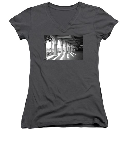 Women's V-Neck T-Shirt featuring the photograph Sometimes The Party Is Over by Lora Lee Chapman