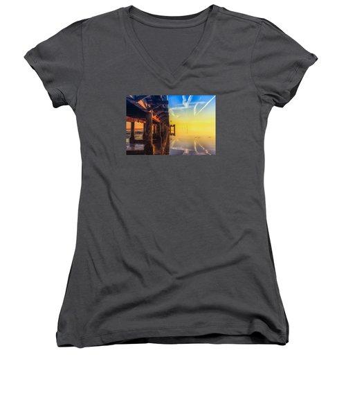 Somewhere Else Women's V-Neck T-Shirt