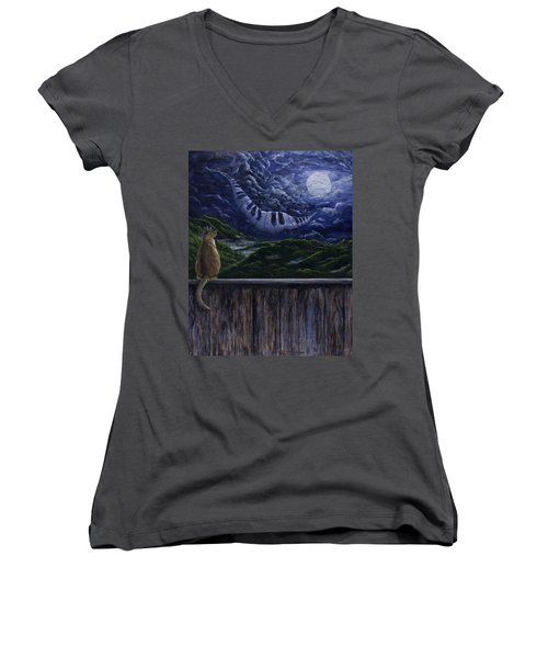 Song In The Night Women's V-Neck (Athletic Fit)