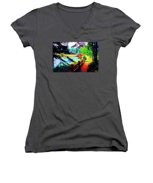 Song Of The Morning Camp Women's V-Neck T-Shirt