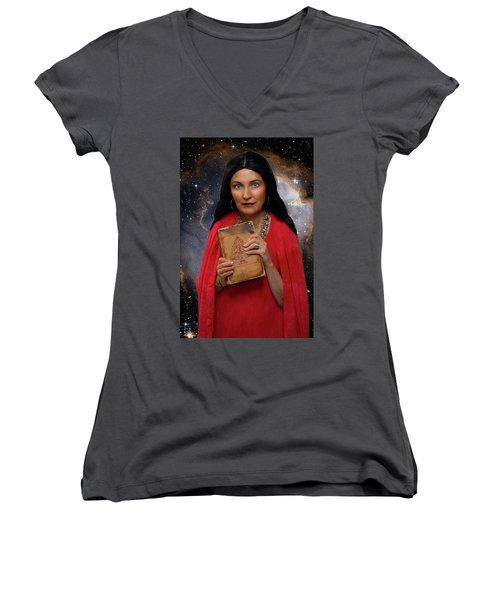 Sophia Women's V-Neck T-Shirt (Junior Cut) by David Clanton