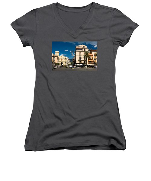 Sorrento Italy Piazza Women's V-Neck T-Shirt