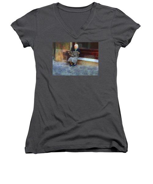 Sorrento News Women's V-Neck T-Shirt