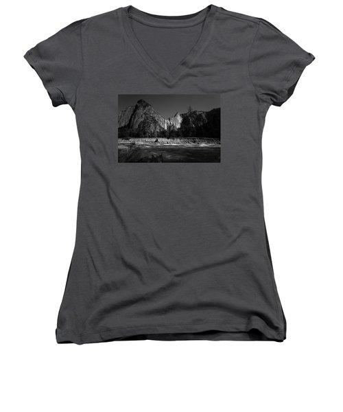 Sources Women's V-Neck T-Shirt (Junior Cut) by Ryan Weddle