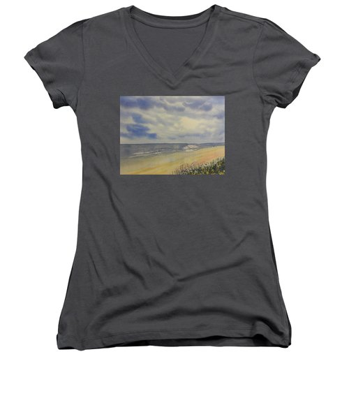 South Beach From The Dunes Women's V-Neck