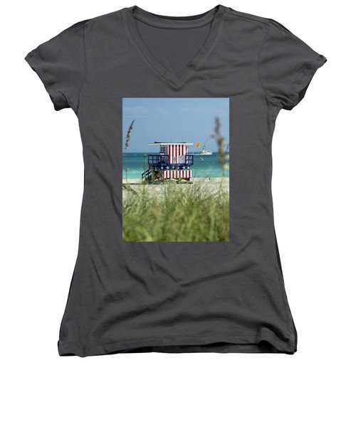 South Beach Women's V-Neck T-Shirt