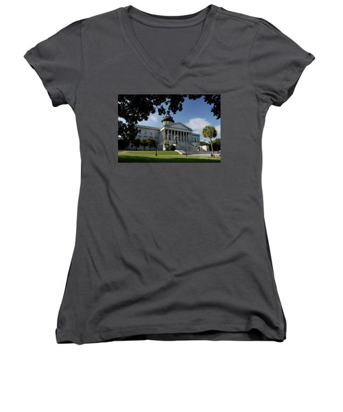 South Carolina State House 2 Women's V-Neck T-Shirt (Junior Cut) by Michael Eingle