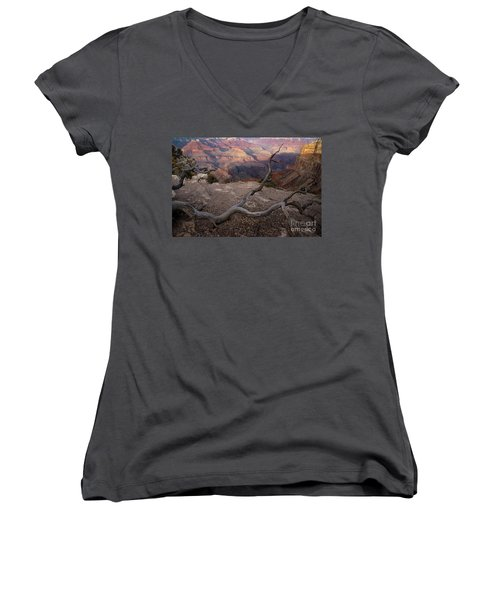 South Rim Golden Hour Women's V-Neck (Athletic Fit)