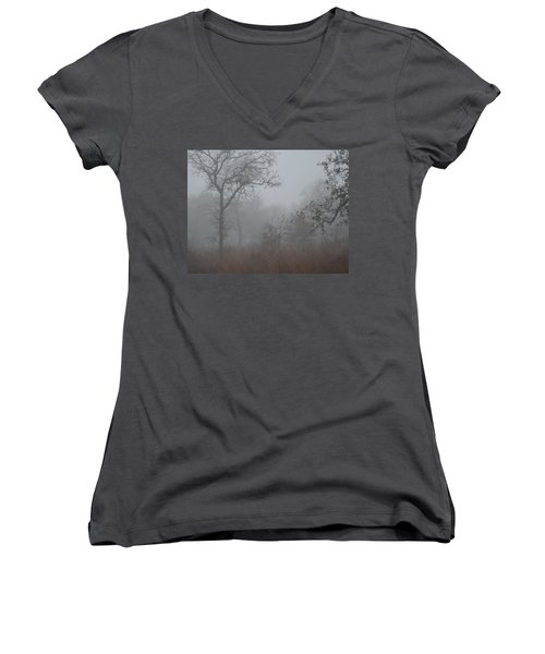 South Texas Fog I Women's V-Neck (Athletic Fit)