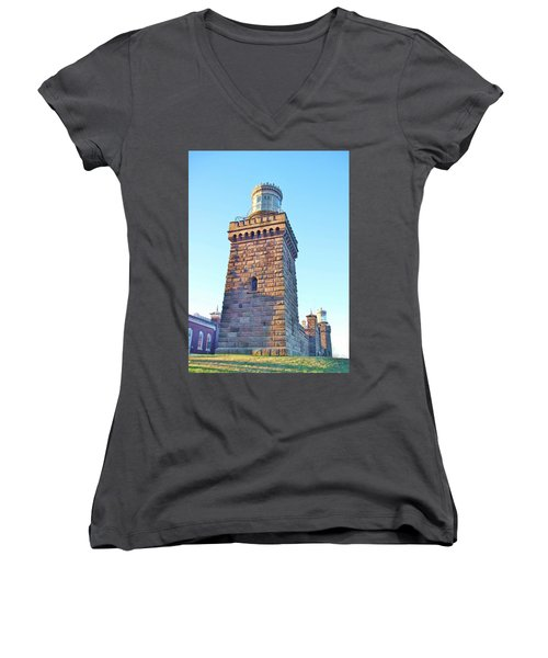 South Tower Of Twin Lights Women's V-Neck (Athletic Fit)