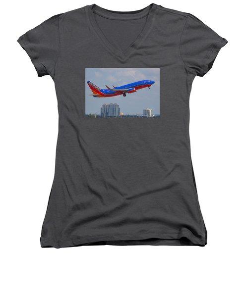 Southwest Airlines Women's V-Neck