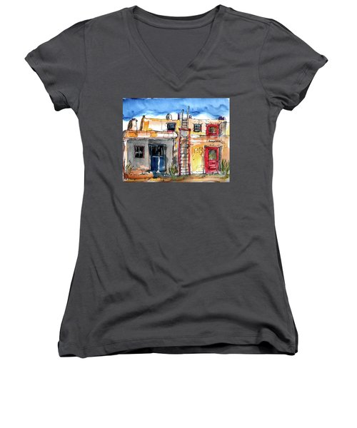 Southwestern Home Women's V-Neck T-Shirt (Junior Cut) by Terry Banderas