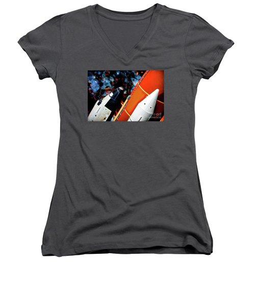 Space Shuttle Women's V-Neck