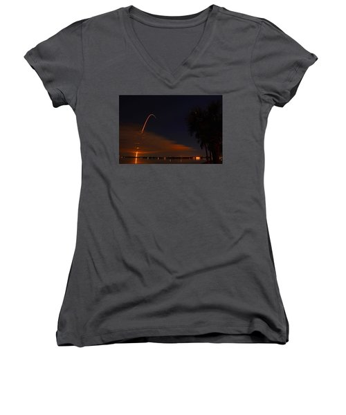 Space Station Bound Women's V-Neck T-Shirt
