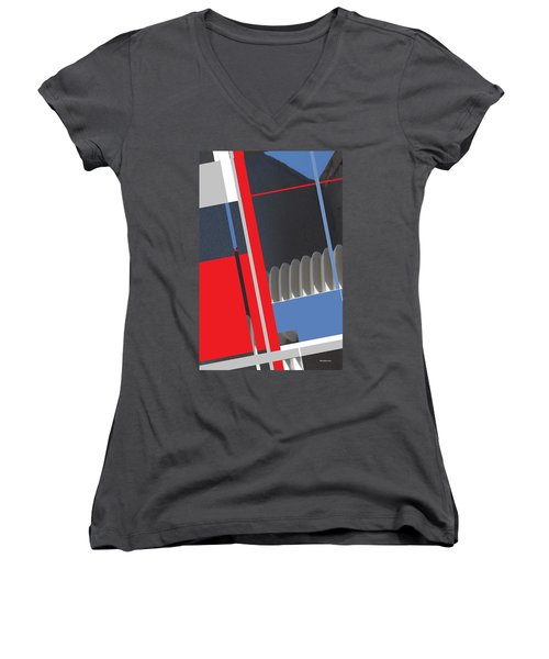 Spaceframe 2 Women's V-Neck T-Shirt (Junior Cut) by Andrew Drozdowicz