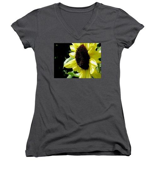 Sparkle Sunflower Women's V-Neck