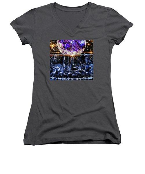 Sparkling Glass Women's V-Neck