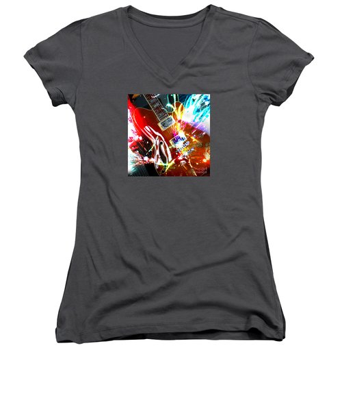 Women's V-Neck T-Shirt featuring the photograph Sparks Fly by LemonArt Photography