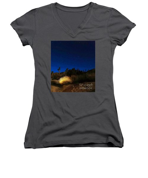 Special Glow Women's V-Neck T-Shirt (Junior Cut) by Angela J Wright