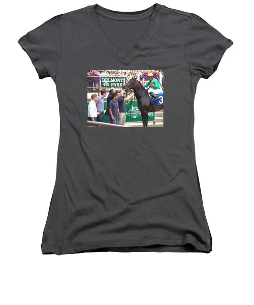 Women's V-Neck T-Shirt (Junior Cut) featuring the photograph Special Ops by  Newwwman