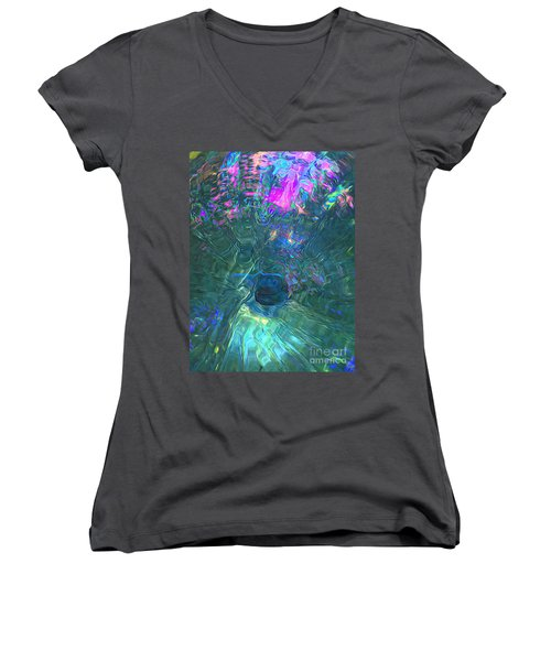 Spectral Sphere Women's V-Neck T-Shirt (Junior Cut) by Todd Breitling