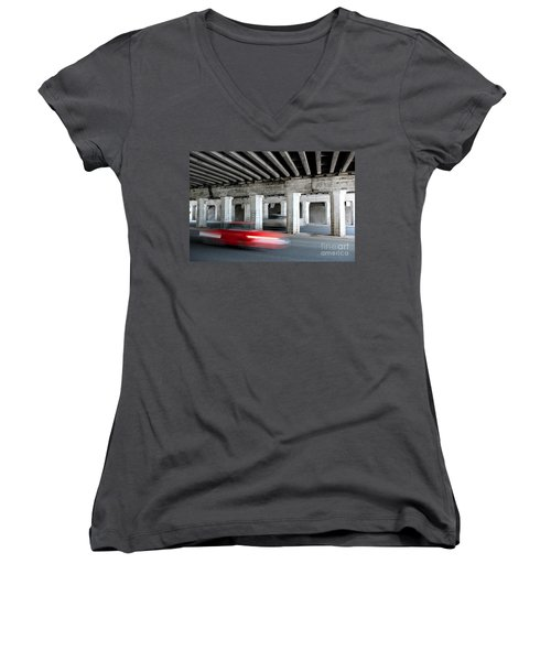 Speeding Car Women's V-Neck