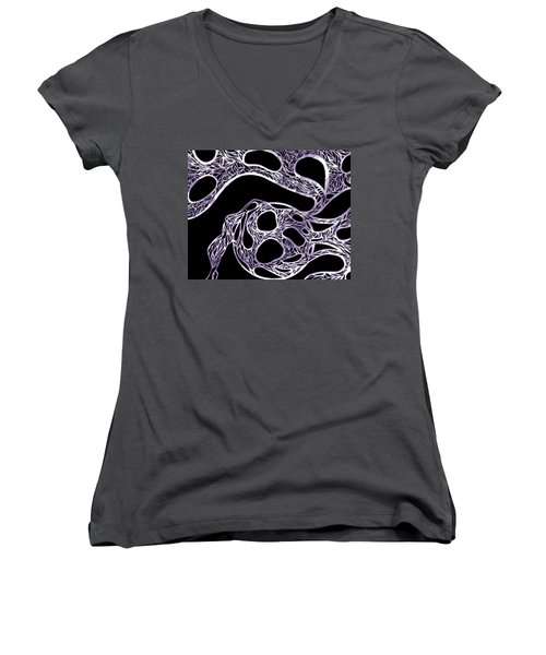 Sphere Night Light Women's V-Neck T-Shirt