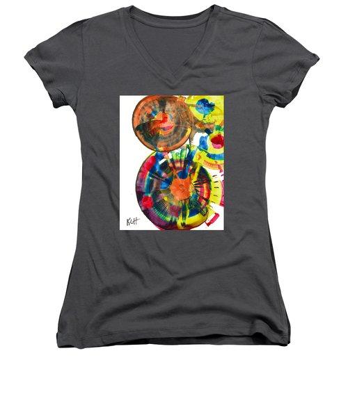 Sphere Series 967.030812 Women's V-Neck T-Shirt (Junior Cut) by Kris Haas